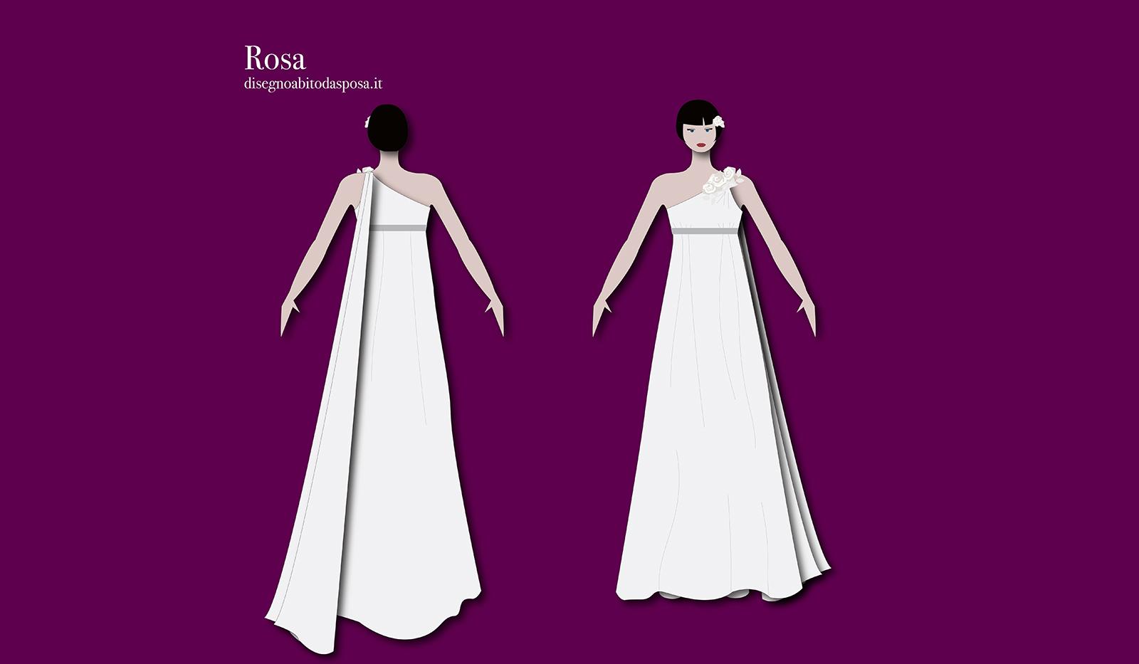 Abito da sposa Rosa in stile impero