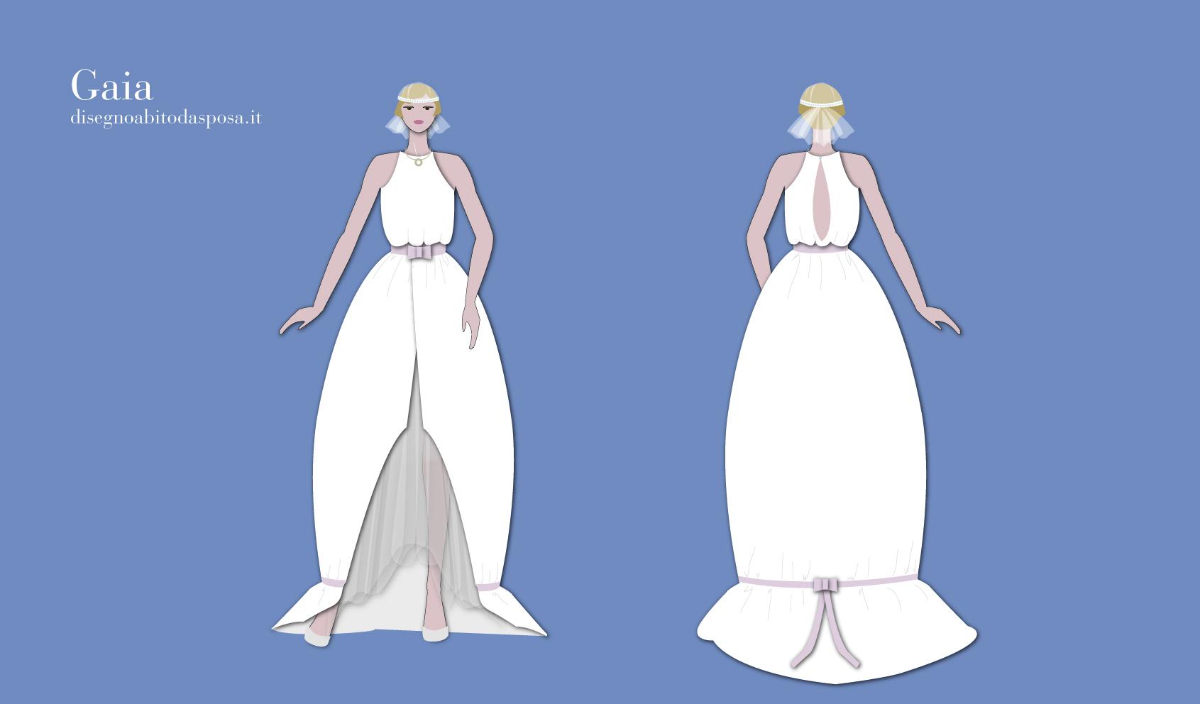 Modello dell'abito da sposa Gaia