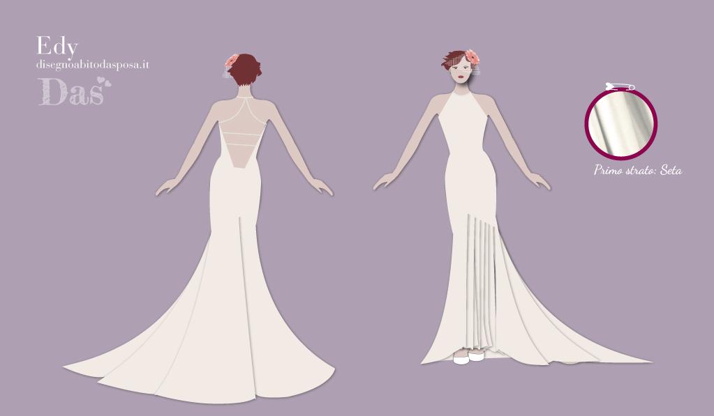 Edy, l'abito da sposa con una profonda scollatura sulla schiena