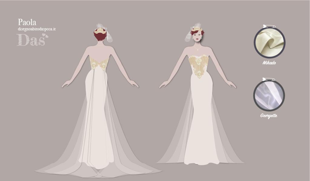Un abito da sposa con il ricamo fatto a mano