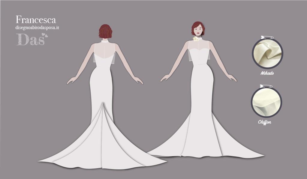 L'abito da sposa raffinato