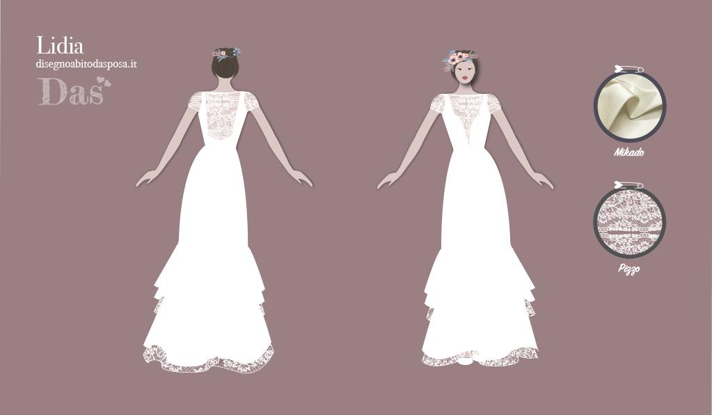 Lidia, l'abito da sposa romantico