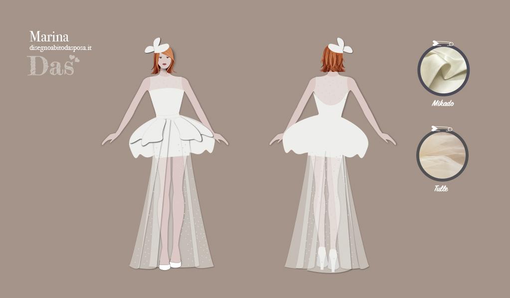 Marina, un abito da sposa stravagante