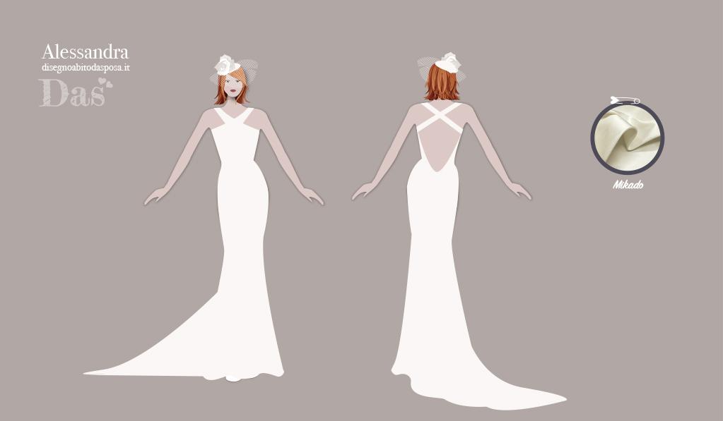 Alessandra, l'abito da sposa elegante