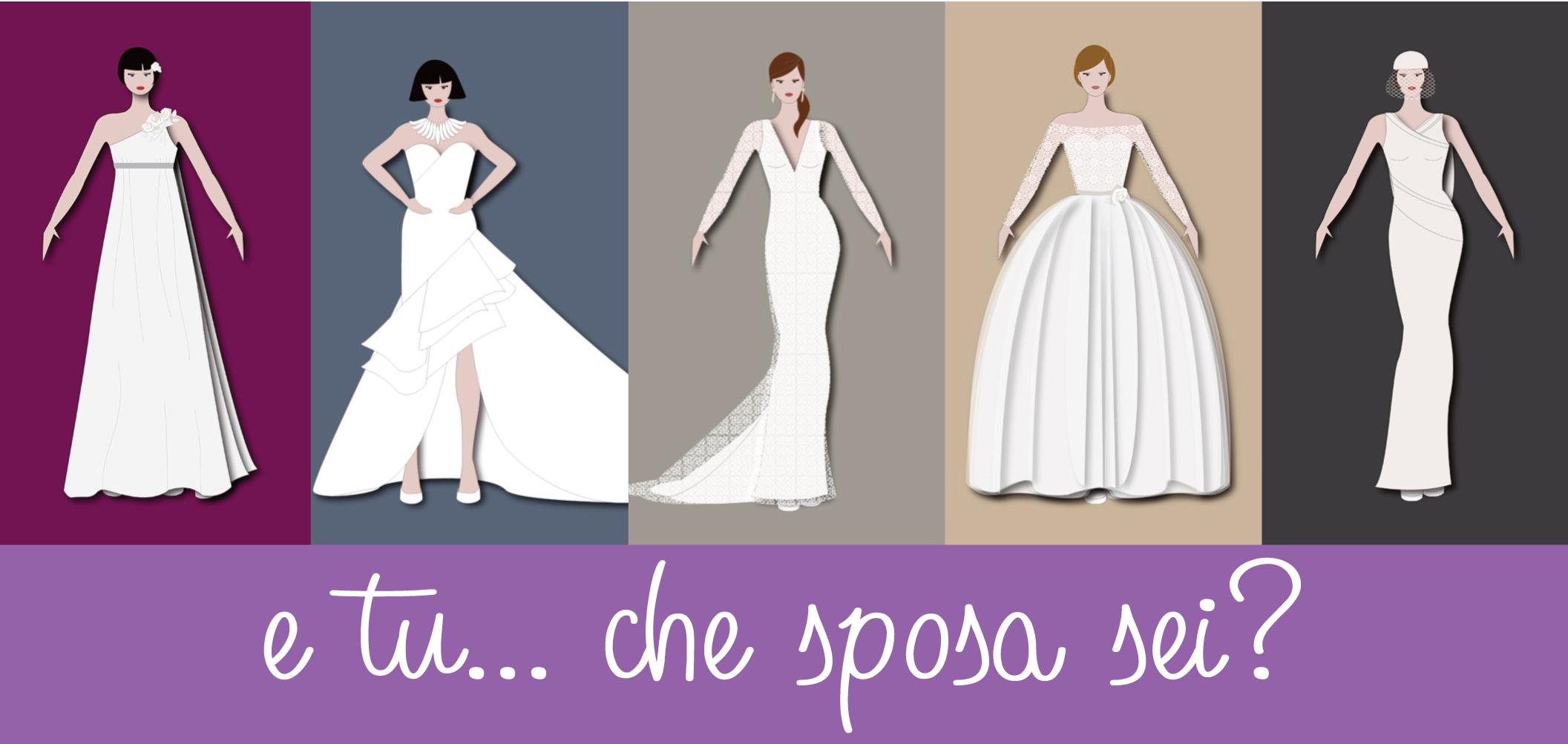 cinque disegni di figurini di abiti da sposa