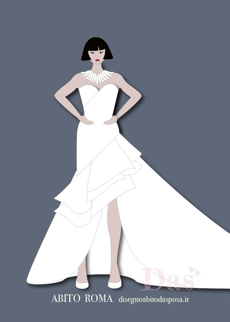 Disegno del vestito da sposa