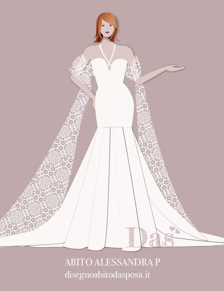 Disegno dell'abito Alessandra P